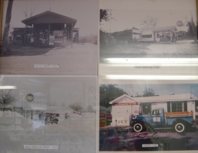 Photos of the store over the years were displayed inside.