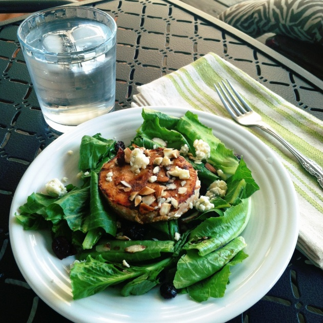 Salmon burger salad