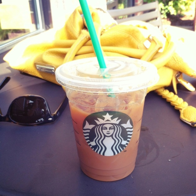 Instead of a pumpkin spice latte (which is 300 calories just for a tall!), get black iced coffee and ask for two pumps of the pumpkin spice flavoring. It tastes just as good and is only 40 calories!