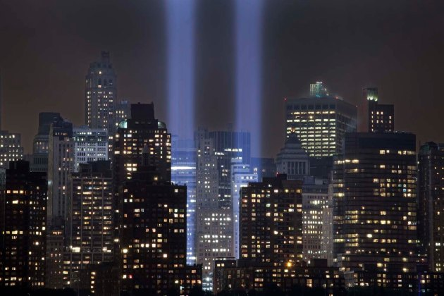 ground zero, 9/11, Tribute in Light