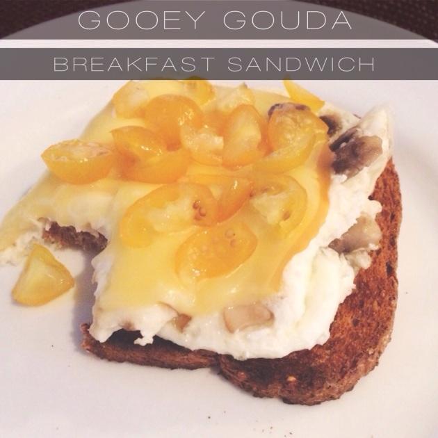Gooey Gouda Breakfast Sandwich | The Pomegranate Bandit